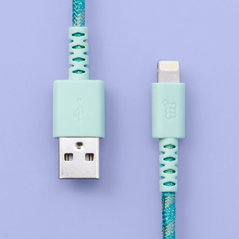 6' Lightning to USB-A Round Braided Mint - More Than Magic™ - image 1 of 4