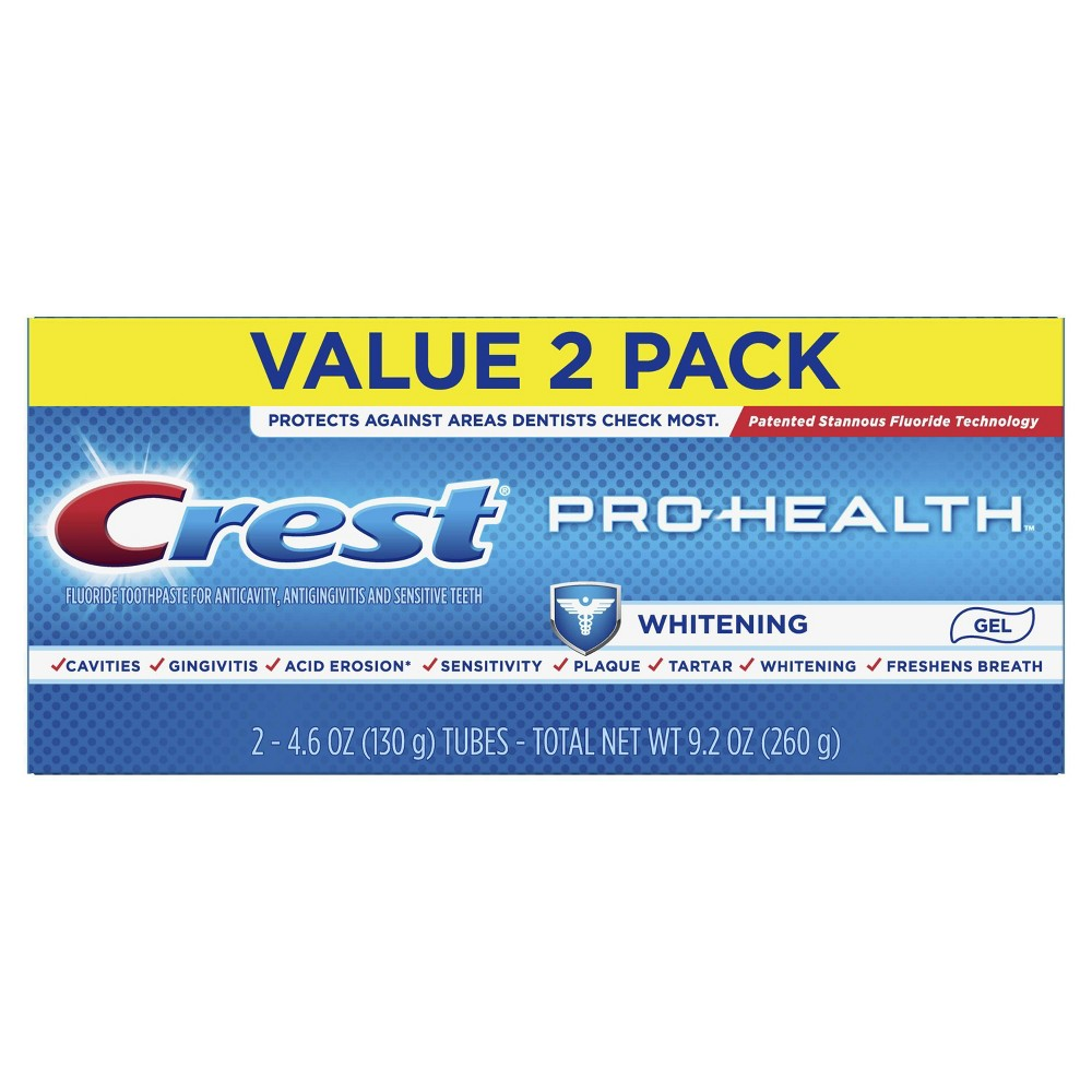 Image of Crest Pro-Health Whitening Gel Toothpaste - 4.6oz/2pk