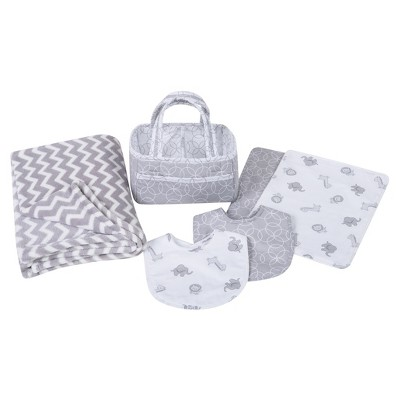 Trend Lab Bib And Burp Cloth Set Gray