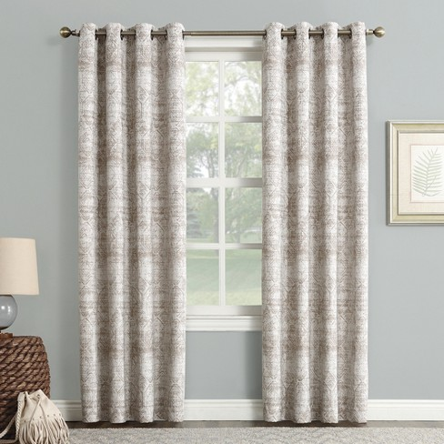 Sun Zero Darren Distressed Global Blackout Lined Grommet Curtain Panel - image 1 of 5