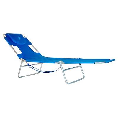 Ostrich Face Down Beach Chaise Lounger - Blue