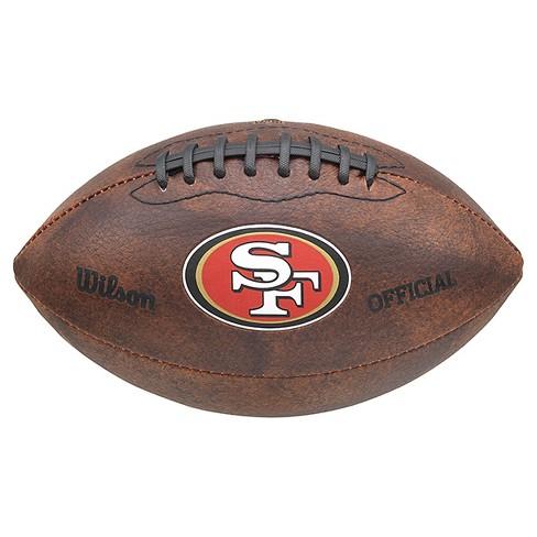 a37b68b30a5 San Francisco 49ers Wilson 9 Inch Color Throwback Football   Target