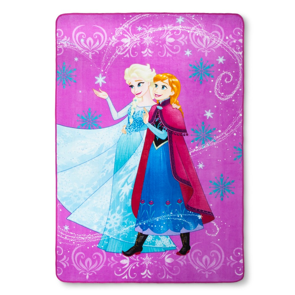 Image of Twin Frozen Bed Blanket, Multi-Colored