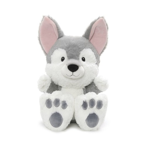 "G by GUND Silly Pawz Husky Dog Plush Stuffed Animal Gray and White 12"" - image 1 of 1"