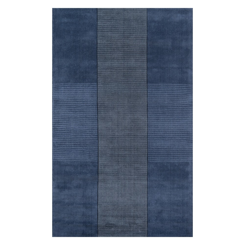 8'X11' Geometric Tufted Area Rug Light Blue - Momeni