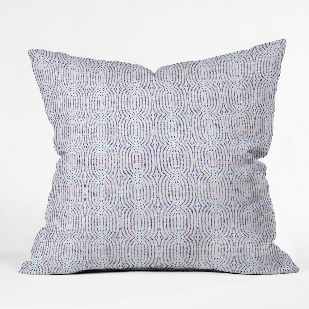 Holli Zollinger French Loop Square Throw Pillow Blue - Deny Designs