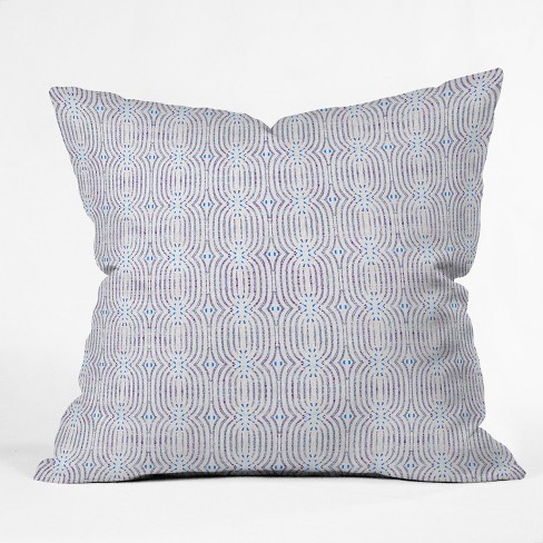 Holli Zollinger French Loop Throw Pillow Blue - Deny Designs - image 1 of 1