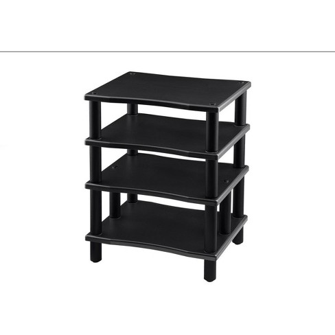 Monolith 4 Tier Audio Stand XL - Black, Open Air Design, Each Shelf Supports Up to 75 lbs., Perfect Way to Organize AV Components - image 1 of 4
