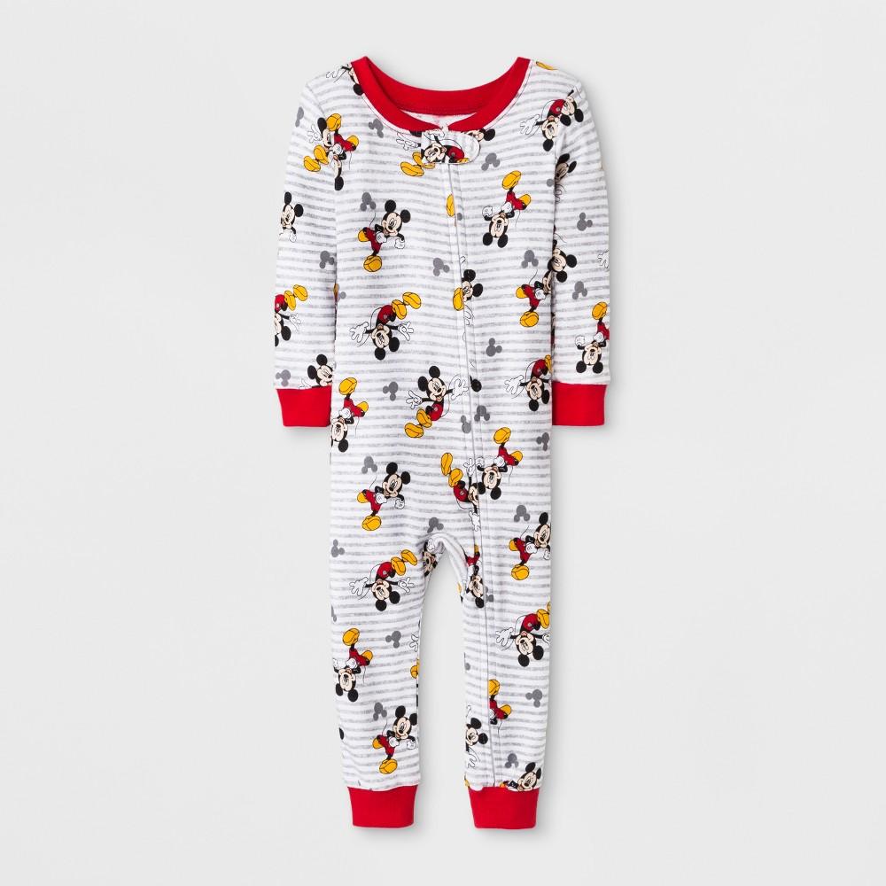 Baby Boys' Mickey Mouse Blanket Sleeper - Gray 12M