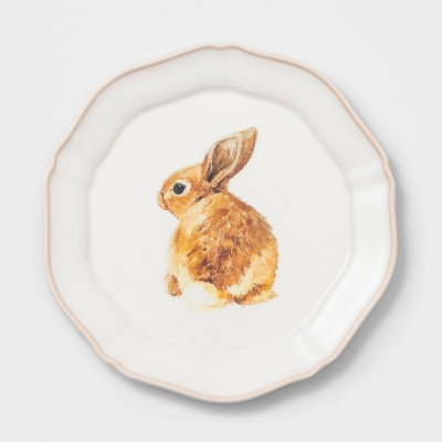 "9"" Melamine Bunny Salad Plate Pink - Threshold™"
