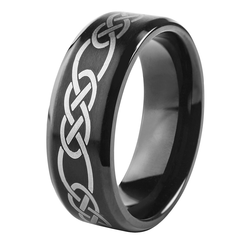 Mens West Coast Jewelry Blackplated Stainless Steel
