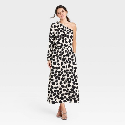 Women's One Shoulder Long Sleeve Dress - Who What Wear™