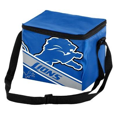 NFL Detroit Lions Big Logo Stripe 6pk Cooler - 10.5qt