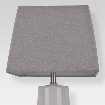 Soft Rounded Square Lamp Shade Large Gray - Threshold™