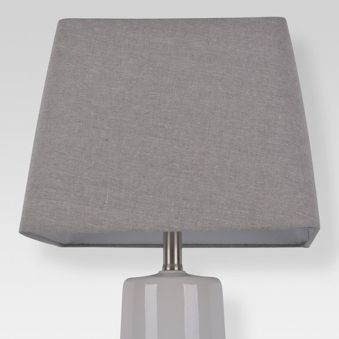 Soft Rounded Square Lamp Shade Large Gray - Threshold™ - image 1 of 3
