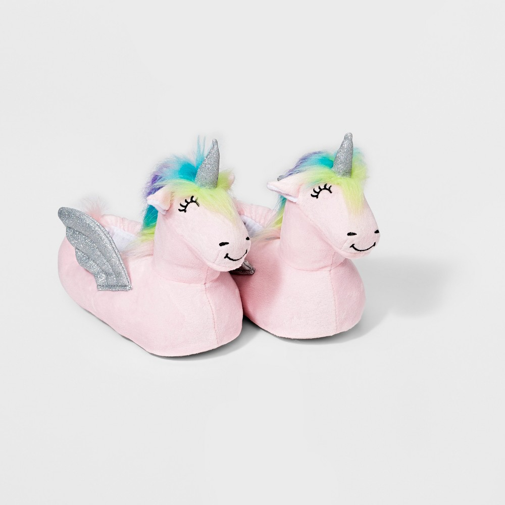 Girls' Unicorn Bootie Slippers - Cat & Jack Pink L (4-5)