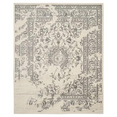 Addaneye Area Rug - Ivory/Silver (8'x10')- Safavieh®