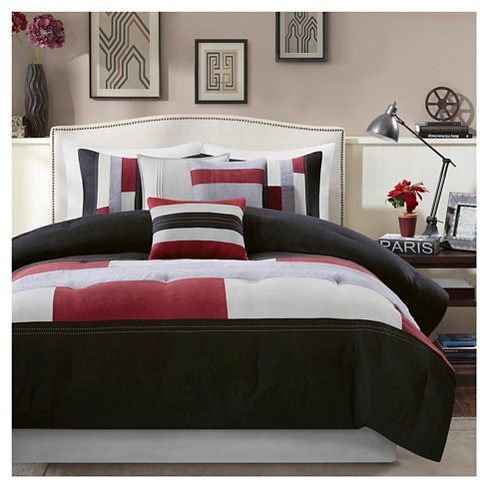 Cooper Colorblock Comforter Set Black - 7 Piece - image 1 of 6