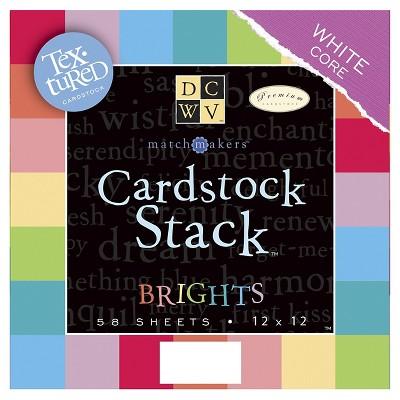 """Cardstock Stack - 58 Per Pack (12""""X12"""")"""