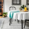 Center Stripes Oil Canvas Tablecloth Teal - Hearth & Hand™ with Magnolia - image 2 of 3