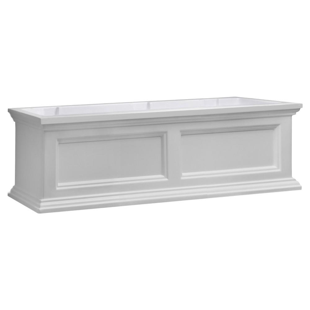 3' Fairfield Rectangular Window Box - White - Mayne