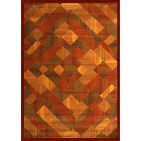 Abacasa Essentials Madison Rust-Sage-Lt. Brown 5x8 Area Rug - Sam's International - image 1 of 1