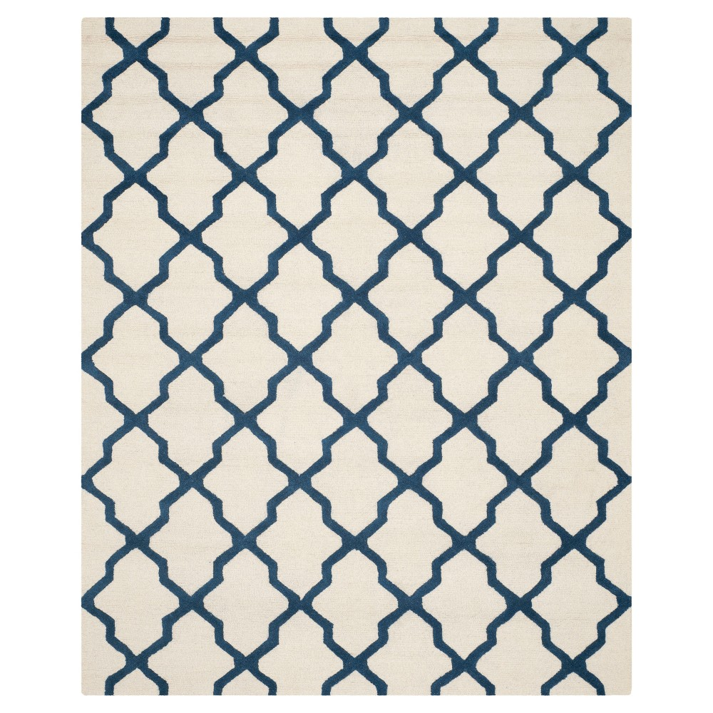Maison Textured Rug - Ivory / Navy (9'X12') - Safavieh, Ivory/Blue