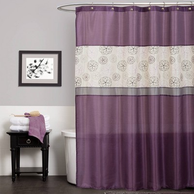 Covina Shower Curtain Purple - Lush Décor