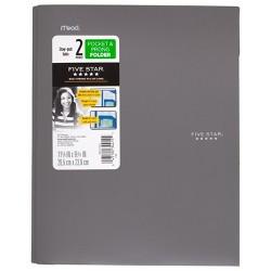Five Star 2 Pocket Plastic Folder with Prongs