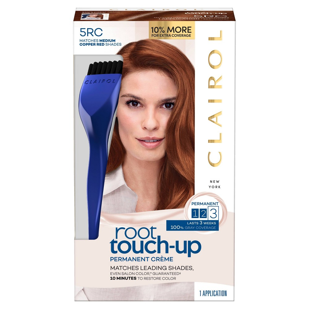 Image of Clairol Root Touch-Up Permanent Hair Color - 5RC Medium Copper Red - 1 Kit, 5RC Medium Brown Red