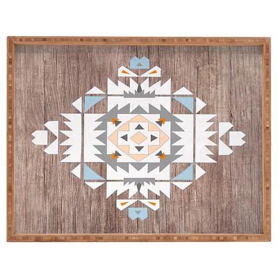 Iveta Abolina Cream Geometric Rectangle Tray - Cream - Deny Designs