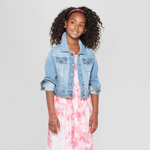 0d591f63c Girls' Jean Jackets - Cat & Jack™ Light Wash : Target