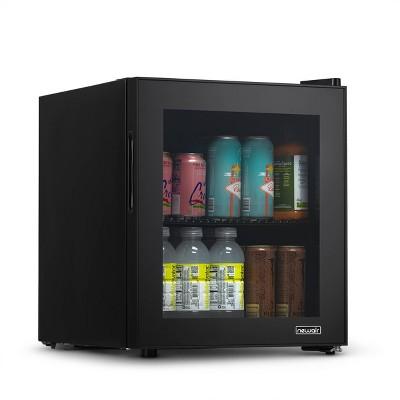 NewAir 60 Can Beverage Fridge with Glass Door - Black