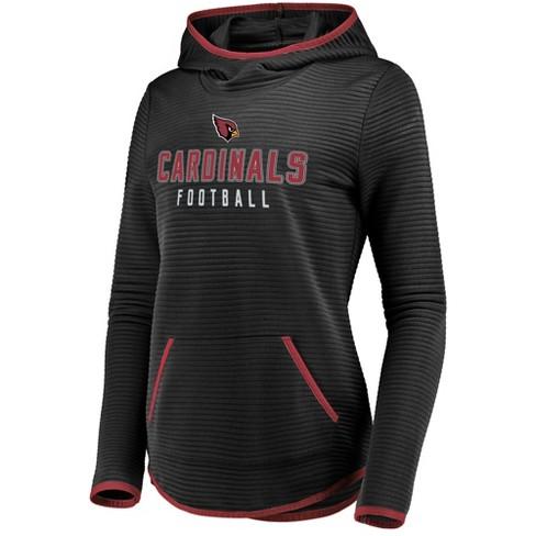 b6e4ecb37844 NFL Arizona Cardinals Women s Linear Hood Black Scuba Neck Hoodie