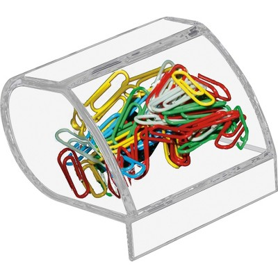Kantek Inc Paper Clip Holder Acrylic 3 X 2 3/4 X 3 1/2 Clear AD40