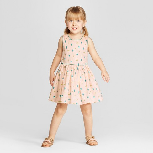 a015636a71 Genuine Kids® From OshKosh Toddler Girls  Mini Cactus Print A Line Dress -  Peach   Target