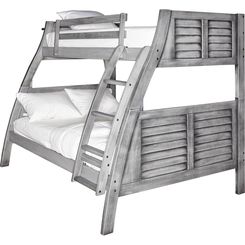 Image of Twin Over Full Jayden Bunk Bed Gray - Powell Company