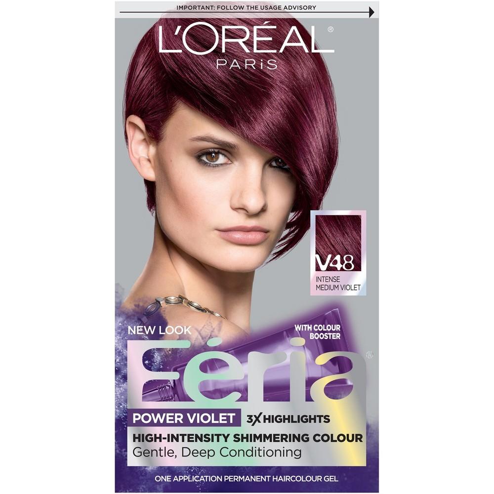 Image of L'Oreal Paris Feria Multi-Faceted Shimmering Color - V48 Power Violet - 1 kit, V48 Power Purple