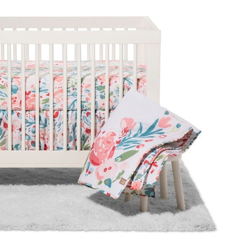 Trend Lab 3pc Crib Bedding Set - Painterly Floral - image 1 of 4