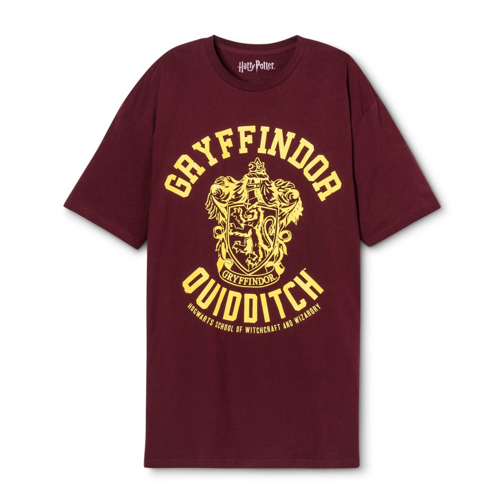 Men's Big & Tall Gryffindor Short sleeve Graphic T-Shirt Maroon 4XB, Red