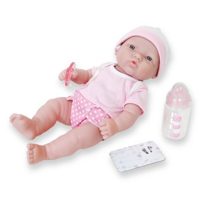 "JC Toys La Newborn 12"" All Vinyl Nursery Gift Set Doll"