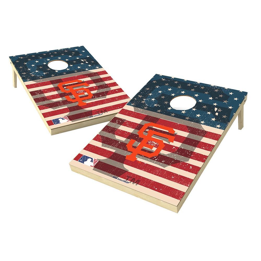 MLB Wild Sports San Francisco Giants 2x3 Tailgate Toss Cornhole Shield - Stars and Stripes