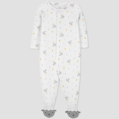 Baby Sheep One Piece Pajama - Just One You® made by carter's White Newborn
