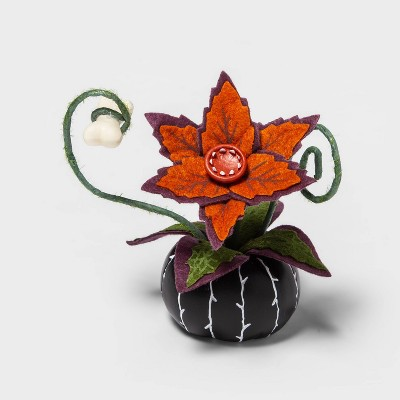 Creepy Decorative Halloween Faux Succulent (Black)- Hyde & EEK! Boutique™