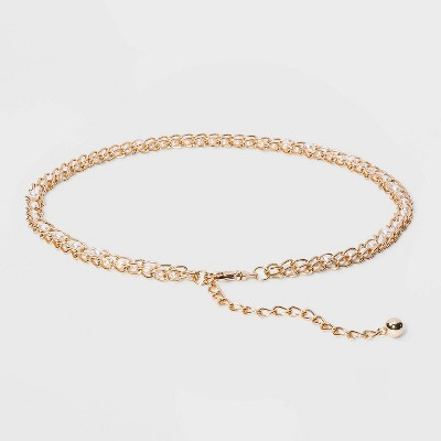 Women's Pearl Chain - A New Day™ Gold M