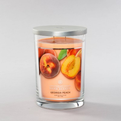 19oz Glass Jar 2-Wick Candle Georgia Peach - Home Scents by Chesapeake Bay Candle
