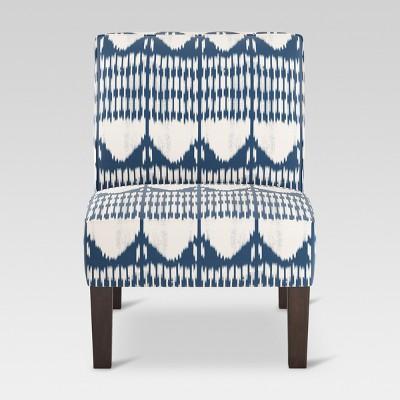 Burke Slipper Chair   Ikat Blue Tones   Threshold™ : Target