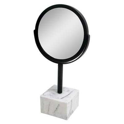 Marbleized Base Bathroom Mirror Black - Nate Berkus™