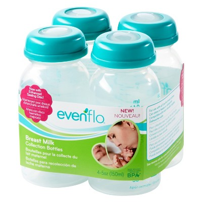 Evenflo® Milk Collection Bottles Clear 5oz- 4pk