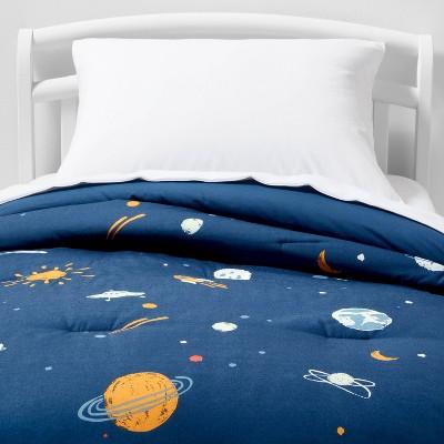 Space Cotton Comforter Set Navy - Pillowfort™